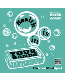 Be Smart, Stand Apart Mirror Cling - Health is in Your Hands (5/Pack)