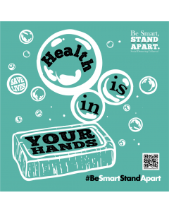 Be Smart, Stand Apart Mirror Cling - Health is in Your Hands - Give a Pack (5/Pack)