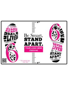 Be Smart, Stand Apart Floor Decal - Custom Branding (10/Pack)