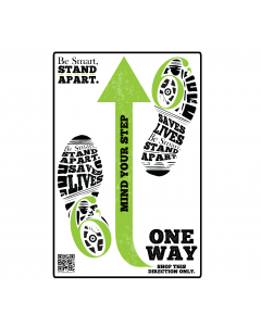 Be Smart, Stand Apart One Way Decal - Give a Pack (10/Pack)